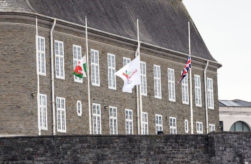 Flags at half mast